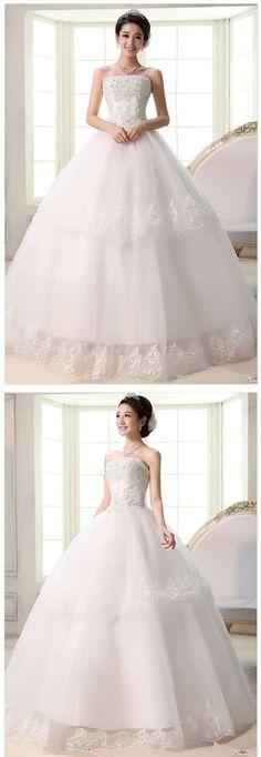 2015 tubo de rendas top casamento de alta qualidade coreano princesa vestido de noiva fashion movimento auto cultivo estético grátis frete em Vestidos de noiva de Casamentos e Eventos no AliExpress.com | Alibaba Group