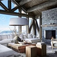 Cozy Living Room Decor for Small, Modern, Boho or Rustic Living Rooms Home Design, Chalet Design, Interior Design, Chalet Style, Ski Chalet, Design Ideas, Interior Decorating, Decorating Ideas, Alpine Chalet