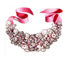 Bib Statement Necklace in Gorgeous Pink with by lovisetto on Etsy, $59.99