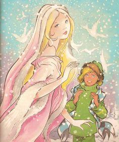 """María Pascual """"La Reina de las Nieves"""" Snow Queen, Ice Queen, Fairytale Art, Forest Fairy, Princess Zelda, Disney Princess, Art Studies, Big Eyes, Illustration"""
