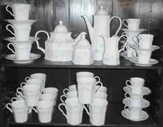 46pc Savoir Vivre Celina Fine China Porcelain Tea / Coffee