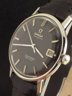 Don Draper's Omega.  This is a late 60's Omega Seamaster DeVille.  This is also the exact same watch Don wore in this week's episode while he was regretting having ditched Megan.