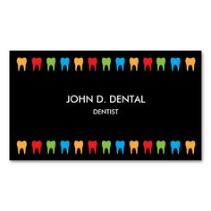 Dentist, dental business or profile card Double-Sided standard business cards (Pack of 100). Make your own business card with this great design. All you need is to add your info to this template. Click the image to try it out!