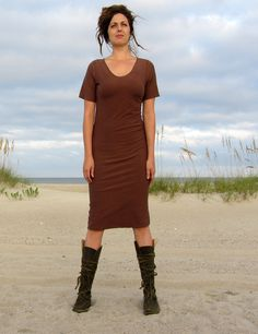 The Below Knee TapRoot Dress stretchy by gaiaconceptions on Etsy, $130.00