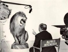 Alfred Hitchcock directs MGM Lion!