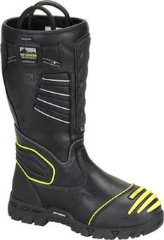 Black Full Grain Leather Composite Safety Toe Waterproof ScubaLiner™ Internal Metguard(Non-Metallic) Electric Hazard Rated Heavy Duty Rubber Outsole Tailbrelle & Mesh Lining Reflective Strips for High-Visibility Matterhorn TigerTip® Puncture Resi Tall Boots, Snow Boots, Winter Boots, Hiking Gear, Hiking Boots, Survival, Wellington Boot, Pull On Boots, Shoes