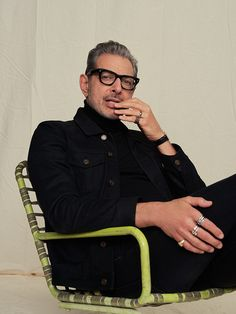 Kylo - Jeff Goldblum photographed by Dan Doperalski - Beautiful Men, Beautiful People, Le Male, Stylish Mens Outfits, Modern Gentleman, Mens Glasses, Celebrity Crush, Pretty People, Keanu Reeves