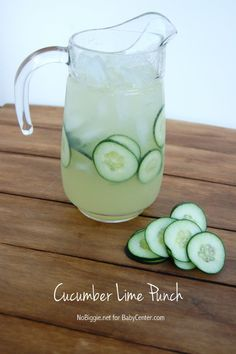 Cucumber lime punch recipe - so light and refreshing!