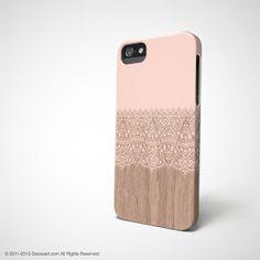 Pink wood iPhone 5s case, iPhone 5 case, iPhone 4 case, pink wood beige boho S634, christmas gift