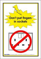 Electricity safety posters (SB480) - SparkleBox