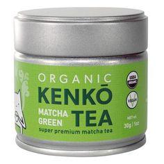 Kenko Tea Organic Matcha Australia - 30g TIn - Front View