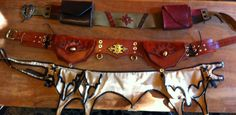 woman's custom made leather utility belt by PatchworkDanger, $140.00