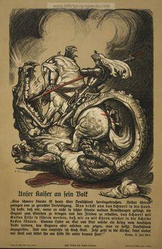 Examples of Propaganda from WW1 | German WW1 Propaganda Posters Page 37
