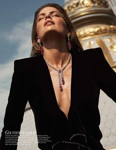 Cameron Russell Sparkles in Precious Gems for Vogue Paris