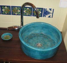 Waschbecken & Badewannen - Irma - Waschbecken mit originellen Muster - ein Designerstück von KoloryMeksyku bei DaWanda