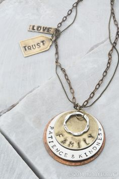 Stamp metal pieces to give as jewelry gifts or keep them for yourself...we'll never tell!