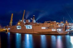 HMS Ocean at Corporation Quay in Sunderland 2nd May 2015.