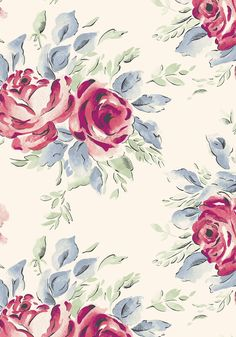 Birthday Rose - Painterly floral rose print. Cream and red rose pattern in our limited edition Cath Kidston birthday collection of dresses and bags.