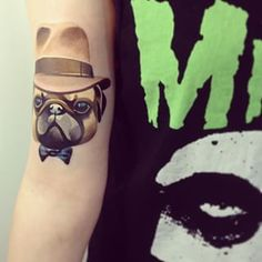 And this pug with a top hat. | The 26 Coolest Animal Tattoos From Russian Artist Sasha Unisex