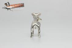 Hungary, Certificate, Terrier, Sculpture, Sterling Silver, Pendant, Mini, Artist, Handmade