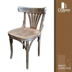 Grupo Chapoy - #muebles de #diseño para hoteles, restaurantes, bares. #silla Restaurant Design, Vintage Industrial, Midcentury Modern, Dining Chairs, Patio, Alice, Interiors, Furniture, Photos