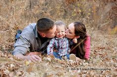Fun mommy, daddy, and baby family portraits in the fall leaves in Colorado Springs, CO at Starsmore Discovery Center by Black Forest Photography http://www.blackforestphoto.com #familypictures #portraits #photography