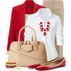 Red, Nude and White for the Office
