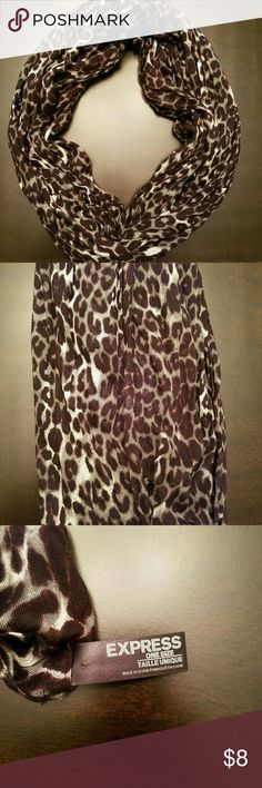Infiniti Scarf Grey, Black, White Leopard Infiniti Scarf. 100% Rayon Material Express Accessories Scarves & Wraps