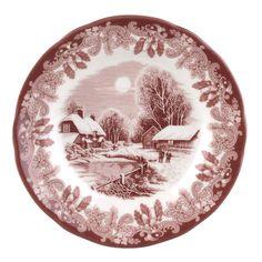 Spode Winter's Scene 6 Inch Plate Set of 4 - Winter's Scene