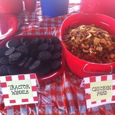 Snacks for farm themed birthday party