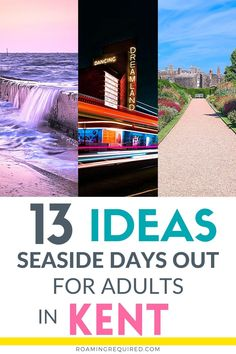 Embrace the staycation by exploring more of the UK with one of these great day trips to Kent. All of them can be reached in less than 2 hours from London. Discover the English countryside in Kent by spending the day discovering with quaint villages, historic landmarks and castles, and dramatic coastlines that are within easy reach on a day trip from London. #London #DayTrip #Roadtrip #Driving #Vacation #Holiday #UK #UKRoadtrip #Kent Travel Ideas, Travel Inspiration, Road Trip Uk, Dover Castle, Leeds Castle, Seaside Resort, Short Break, English Countryside, Pilgrimage