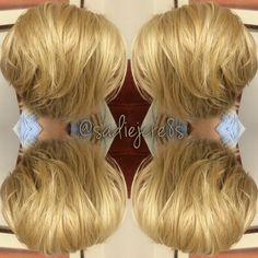 Choppy layered and blonde!