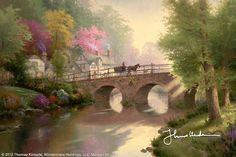 Hometown Bridge by Thomas Kinkade July 1998