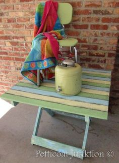 Beach Inspired Painted Picnic Table, Petticoat Junktion