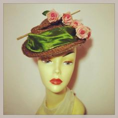 Millinery  Derby  Fascinator Straw Cocktail by katherinecareyhats, $235.00
