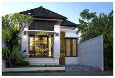 Desain Rumah 1 Lantai 3 kamar Lebar Tanah 7 meter dengan ukuran Tanah 1 are/100m2