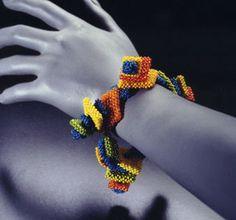 Cubic right angle weave bracelet.