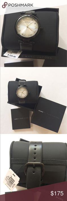 🎉Sale🎉NIB Marc by Marc Jacobs classic watch Brand new in box and with tag!!!! 100% authentic. Never used or worn. Very classic watch for MMJ brand. Include instruction book, box, care card. Leather band. Retail:$225+tax.                                                                                                  ❌no trade❌no lowballing offers!!! Marc by Marc Jacobs Accessories Watches