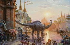En la isla de Dinotopia es así: