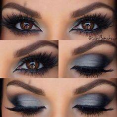Cool smokey gray eyes                                                                                                                                                                                 Más