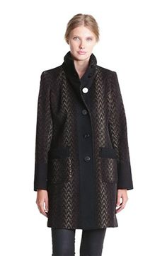 knit collar coat