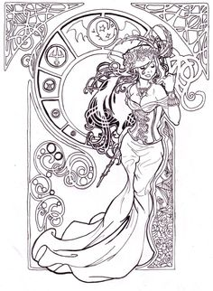 Art Nouveau ~ Artist: Tattoo Ratz aka Martin Radtke
