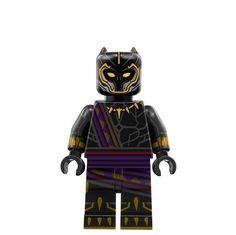 Black Panther (T'chaka) Lego Custom Minifigures, Lego Minifigs, Lego Pictures, Lego Pics, Legos, Lego Station, Lego Batman, Superhero, Marvel Universe Characters
