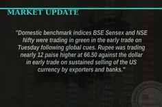 #OpeningBell : #Equity benchmarks were marginally higher amid consolidation in morning trade, led by short covering in technology, pharma, auto and select banks stocks. The #BSE #Sensex was up 54.16 points at 28348.44 and the #NSE #Nifty up 19.20 points at 8742.25 while the broader markets outperformed benchmarks on positive breadth. About two shares advanced for every share declining on the Bombay Stock Exchange. TCS, Infosys and Coal India were #TopGainers on the Sensex, up 1-1.5 percent…