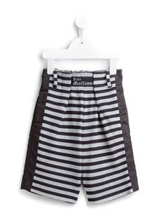 striped sweat shorts