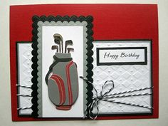 Handmade Golf Birthday card for male or by BellaCardCreations