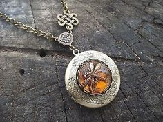 Celtic Knot Dragonfly in Amber Diana Gabaldon Outlander Series Locket Necklace.... YES!!! Please!