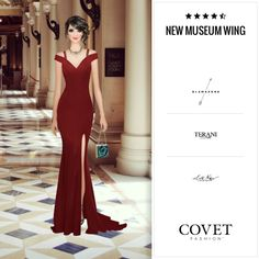 Covet Fashion - Jetset: New Museum Wing 🛩4.57 (4.26 from votes). Cocktail dresses would be more appropriate, IMO, but I got voted down when I tried that! #Overdressed #CovetFashion