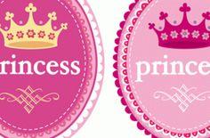 Princess badges: Free printable.  Cute and easy.