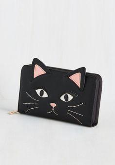 okwowcool:  cat clutch  nu goth pastel goth grunge kawaii hipster fachin cat clutch accessories bag modcloth